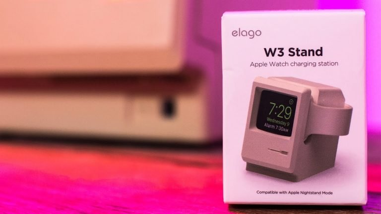 elago W3 Stand is the dock for Apple Watch that turns it into an adorable 128K mini Macintosh