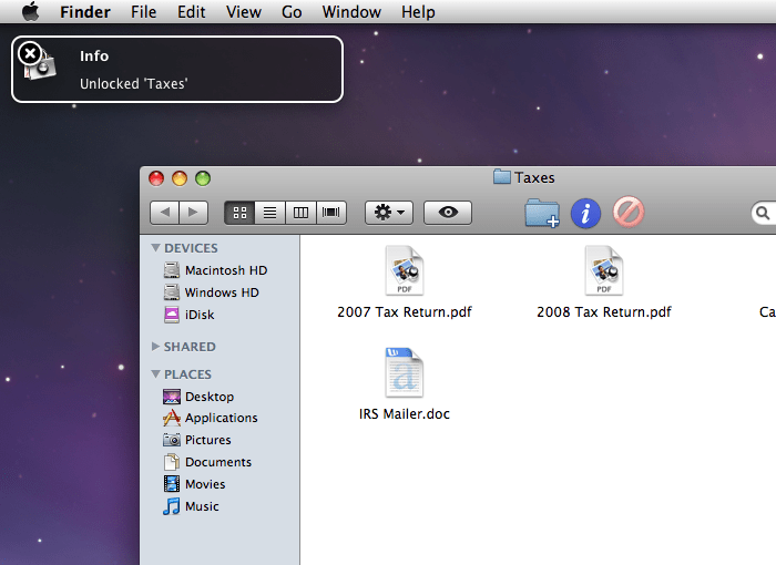 Espionage, simply protect folders in OS X
