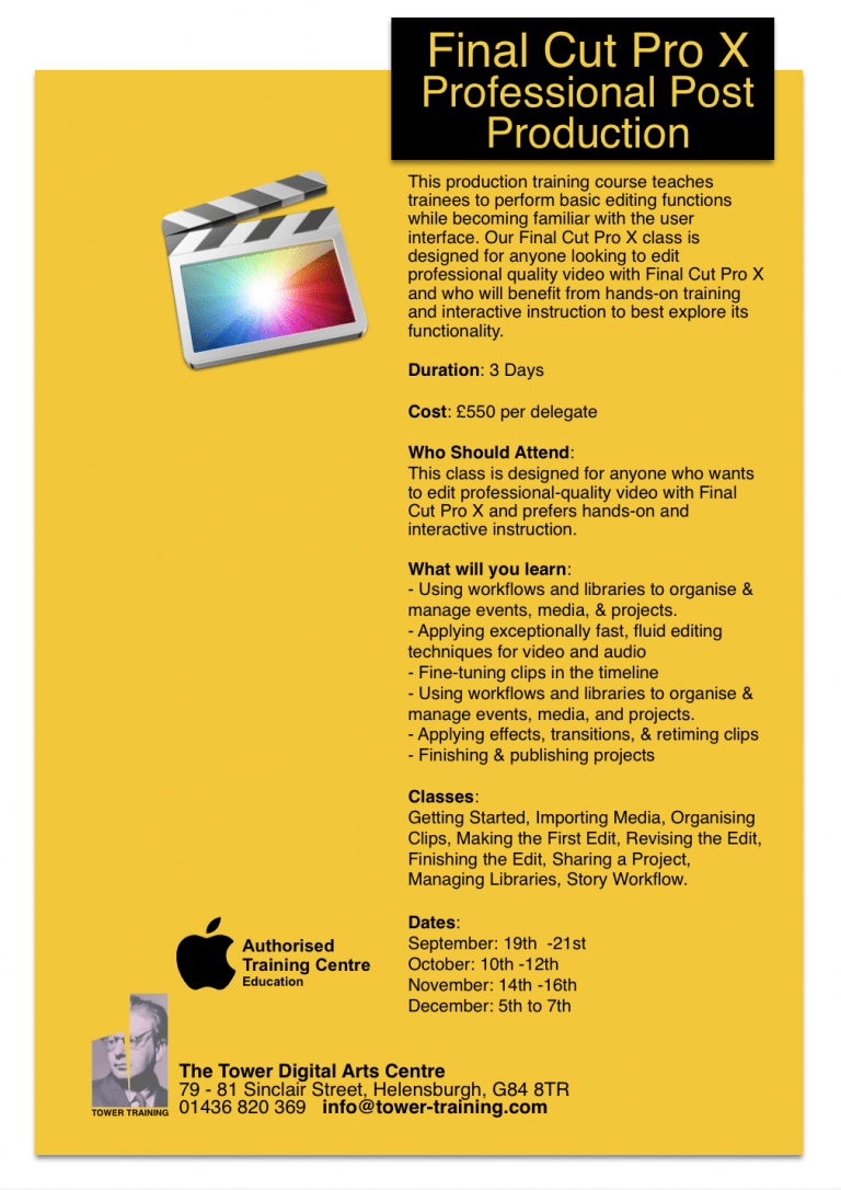 Event Manager X, manages Final Cut Pro X events and projects