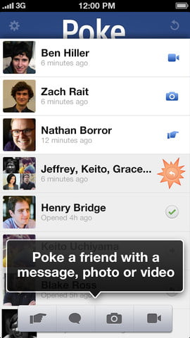 Facebook launches Poke, an iPhone application that allows you to send one-time messages