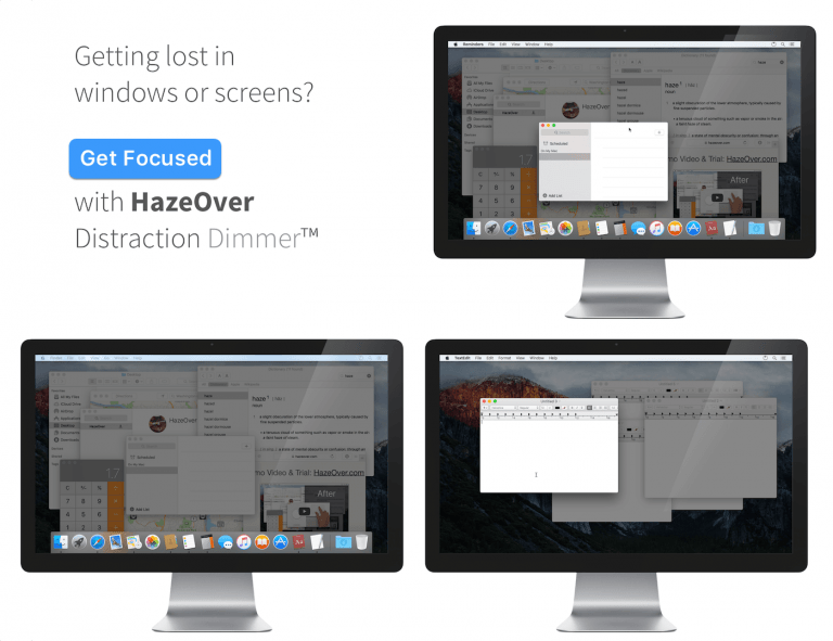 HazeOver – Less Distractions on the Mac App Store