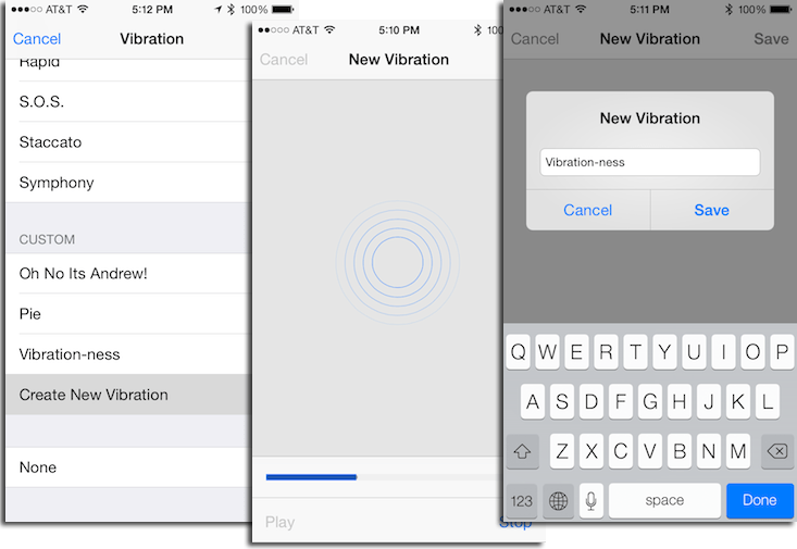 How to create a custom vibration pattern for our iPhone and use it to know who is calling