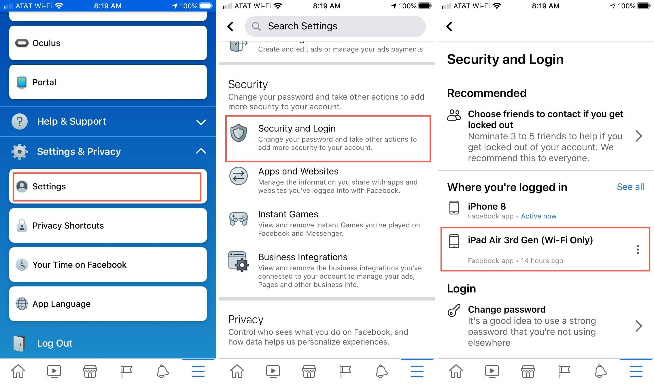 How to manage the privacy of your Facebook account from iOS