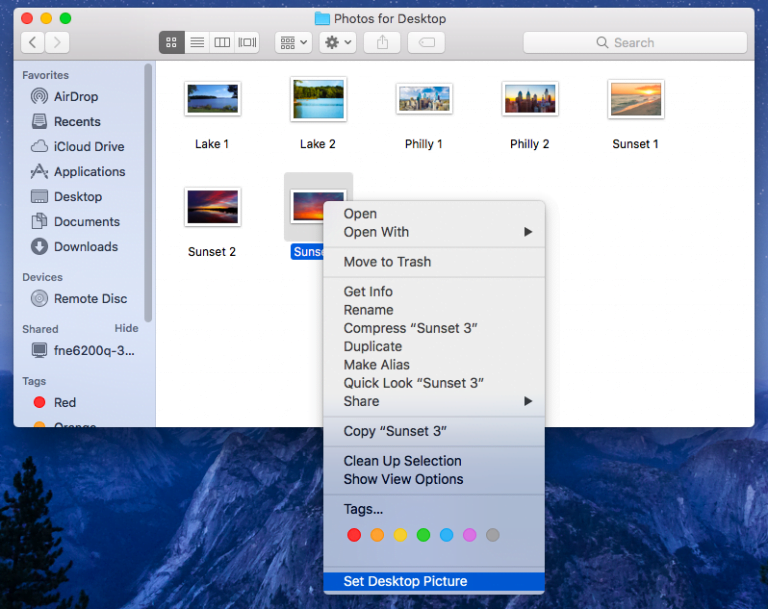 How to put our own wallpaper photos on our Mac