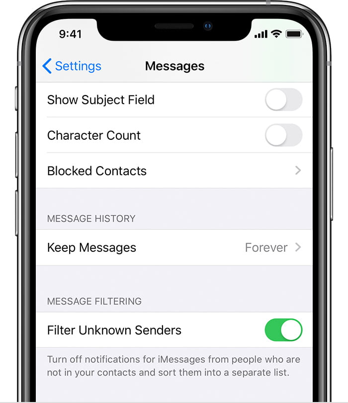 How to see which contacts we have blocked on our iPhone or iPad