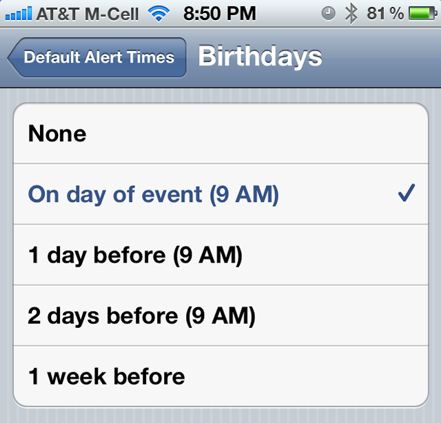How to set calendar birthday alarms on your iPhone