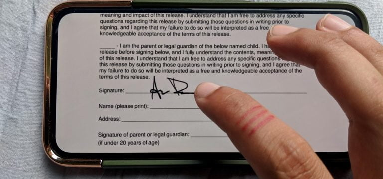 How to sign a document from a Mac, iPad or iPhone without having to print it