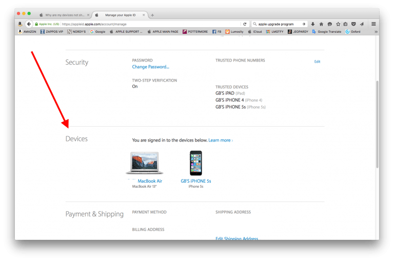 How to view all the devices you have registered under your Apple ID