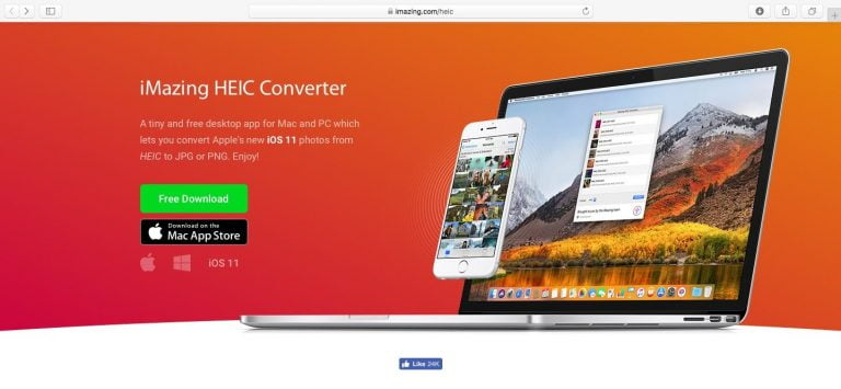 iMazing HEIC Converter, the free photo conversion app for iOS 11 and High Sierra MacOS
