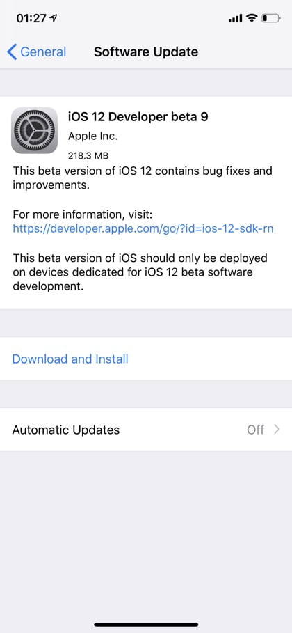 iOS 12 beta five and other developer operating systems now available