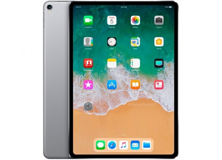 iPad Pro icon discovered in iOS 12 with reduced frames, no Home button, and no 'notch