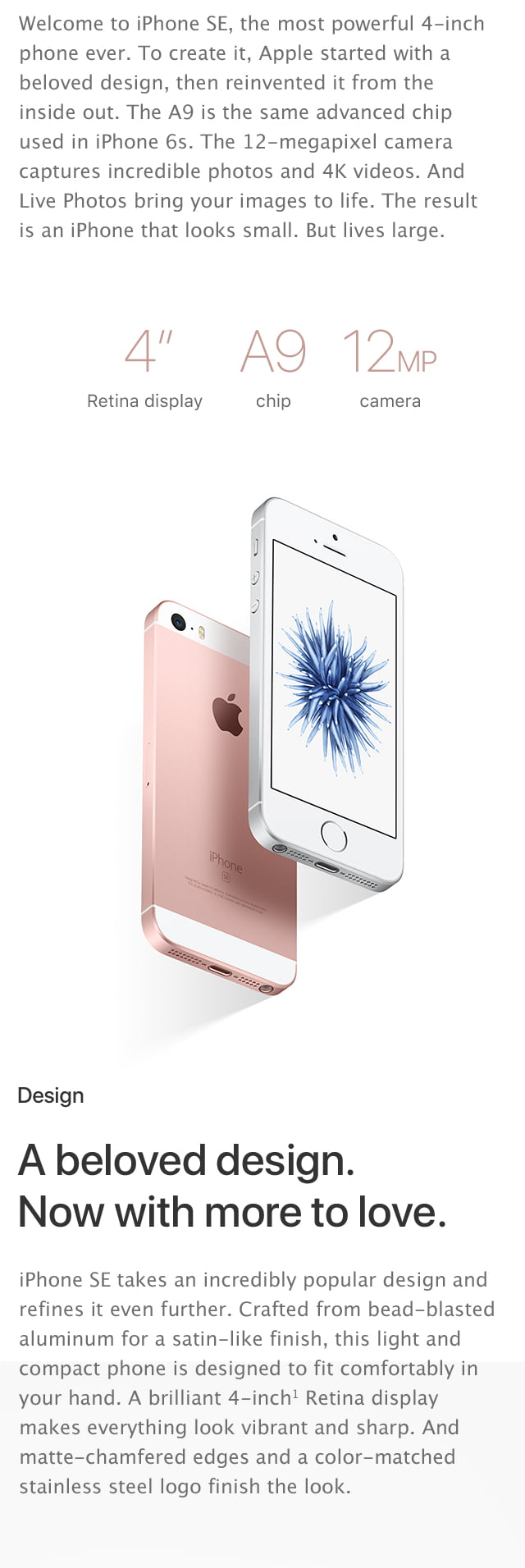 iPhone SE, the most powerful 4-inch iPhone yet