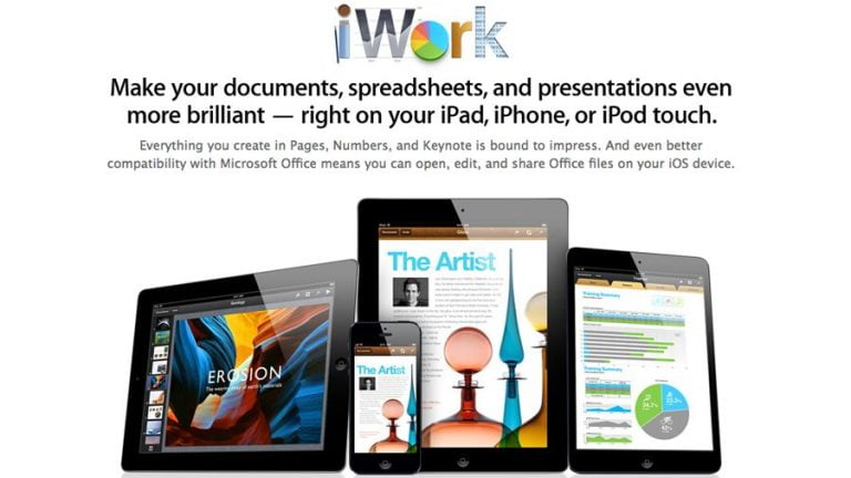 iWork Will Be Free with All New iOS Devices