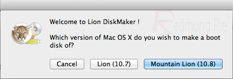 Lion DiskMaker, create a boot drive with OS X Lion or Mountain Lion