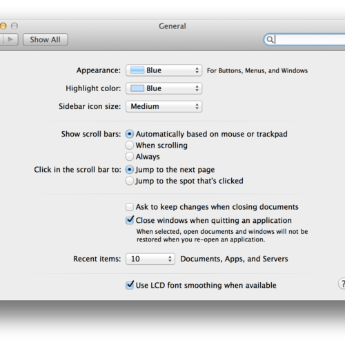 Located the name 'Castle' in the Mac OS X Lion preferences