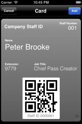 Make your own Passbook Cards with PassKit