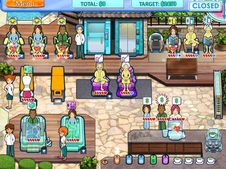Manage a Spa with this iPad game
