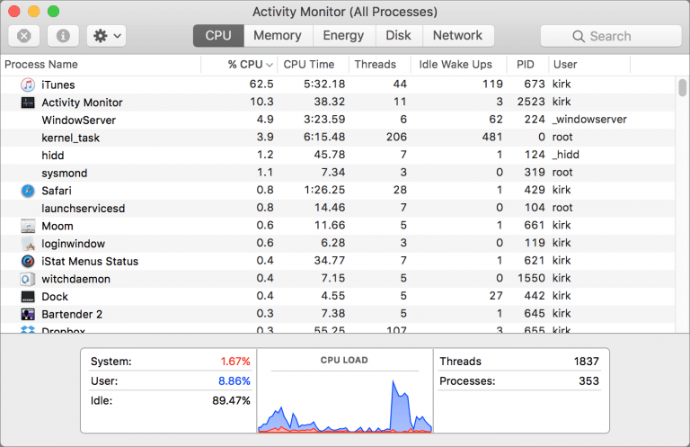 Memory Clean, a simple application to control the memory of your Mac