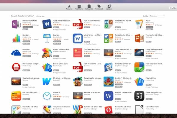 Microsoft Office in App Store