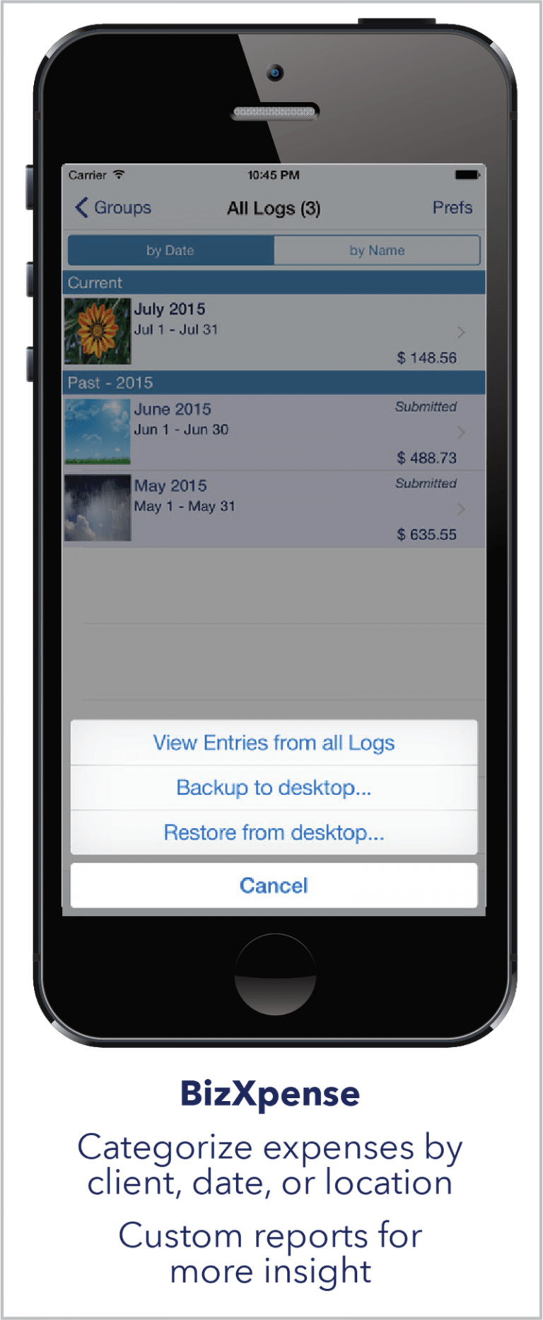 Monthly is perhaps the simplest expense manager in iOS