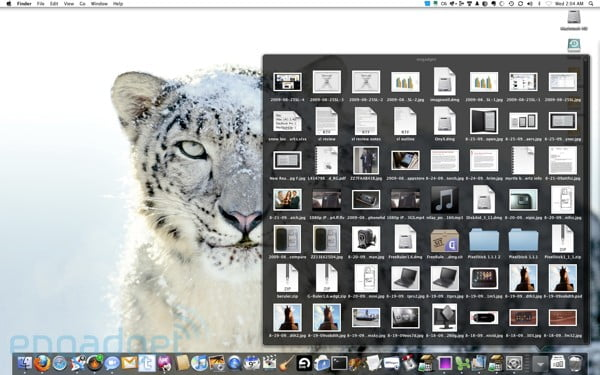 More details on the Snow Leopard user interface appear