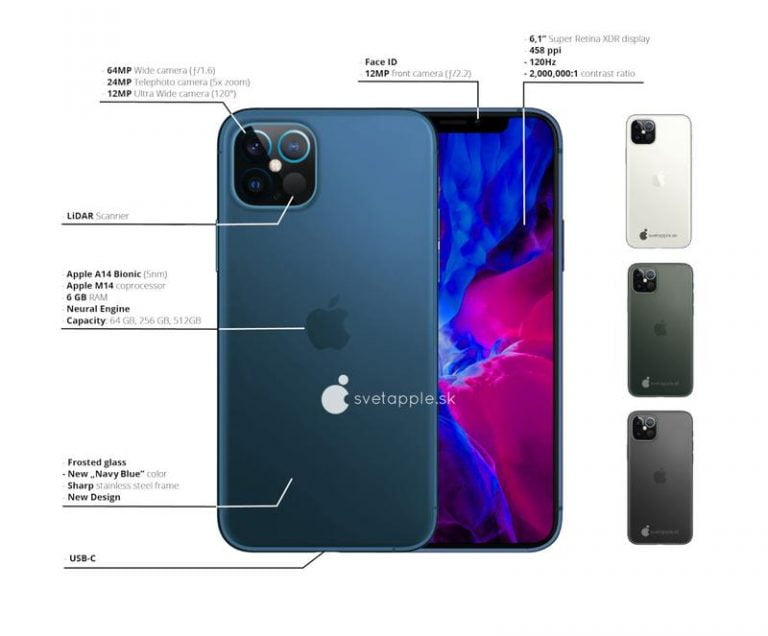 More iPhone 12 CAD drawings confirm the same notch and LiDAR exclusivity for the Pro Max model