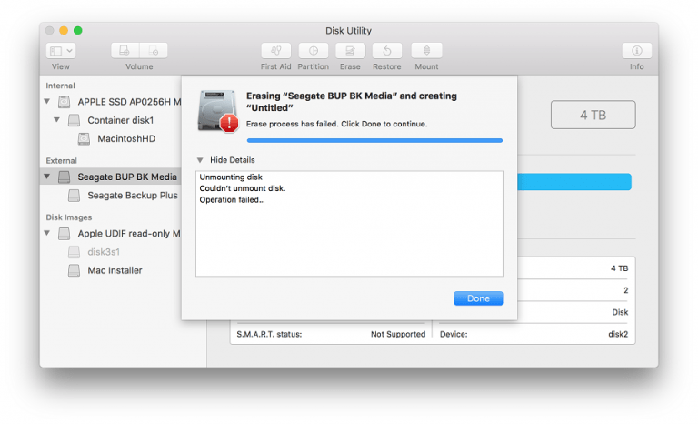 more reasons for Apple to improve the reporting of macOS errors
