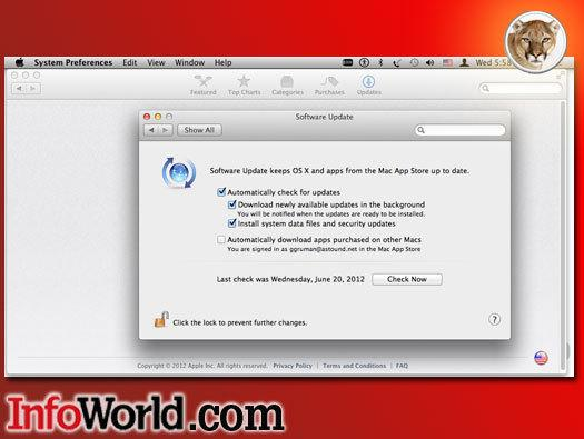 Mountain Lion simplifies OS X naming and moves system updates to the Mac App Store