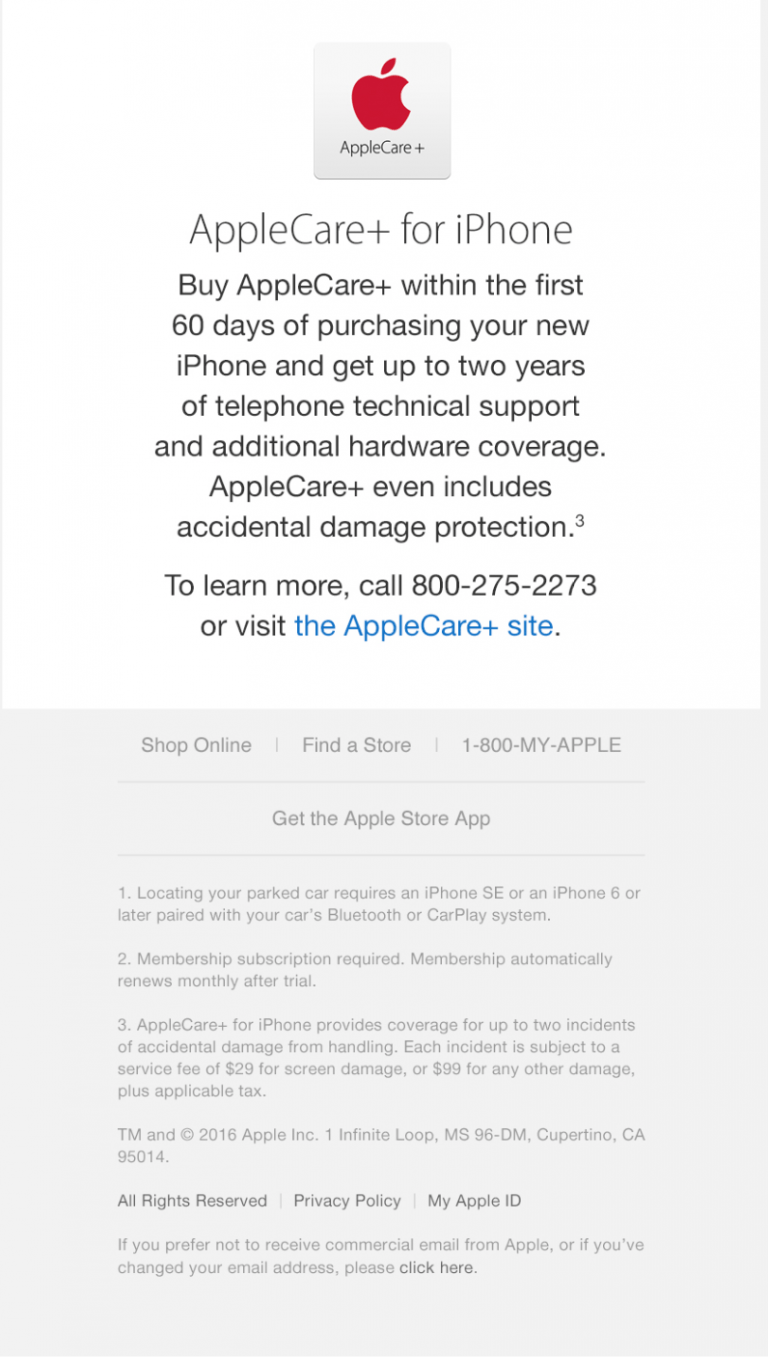 New AppleCare+ for iPhone with accident coverage