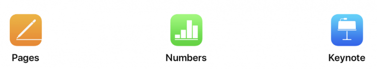 new update for Pages, Numbers and Keynote for Apple devices