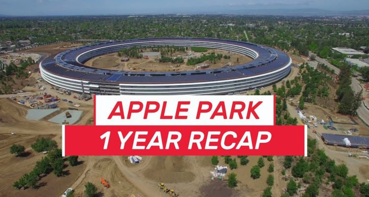 new video of the Apple Park at drone view