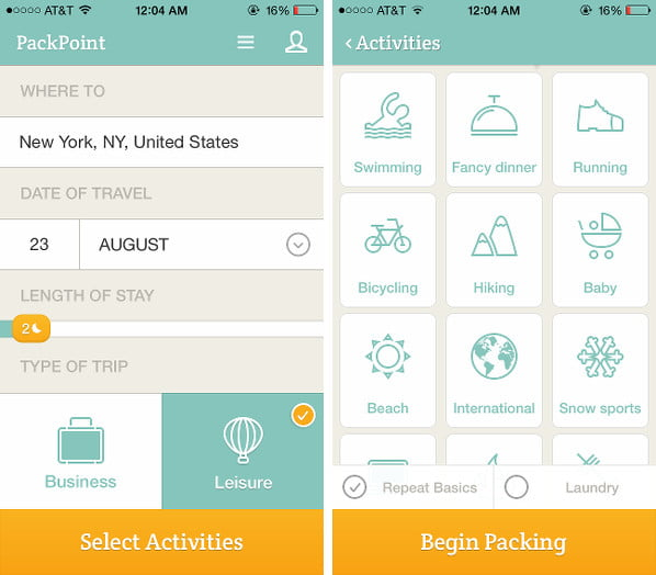 PackPoint helps you not to forget anything on your next trip