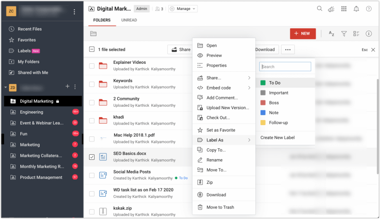 PDF scanning, offline folders, sharing enhancements and more features