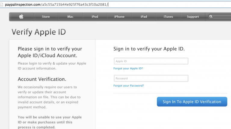 Possible fraud is detected with Paypal accounts through iTunes