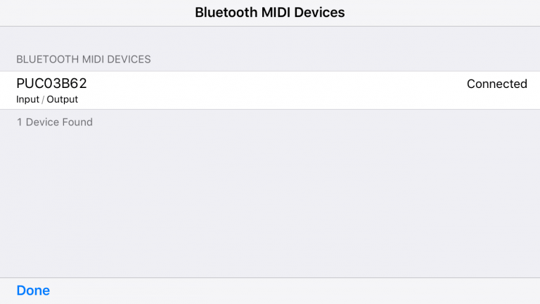 PUC+ connects your MIDI devices via Bluetooth to your Mac, iPhone or iPad