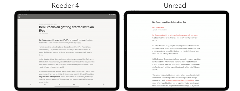Reeder for iPhone adopts long-awaited Feedly support