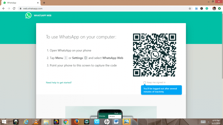 Running WhatsApp Web on your iPad is possible and very simple