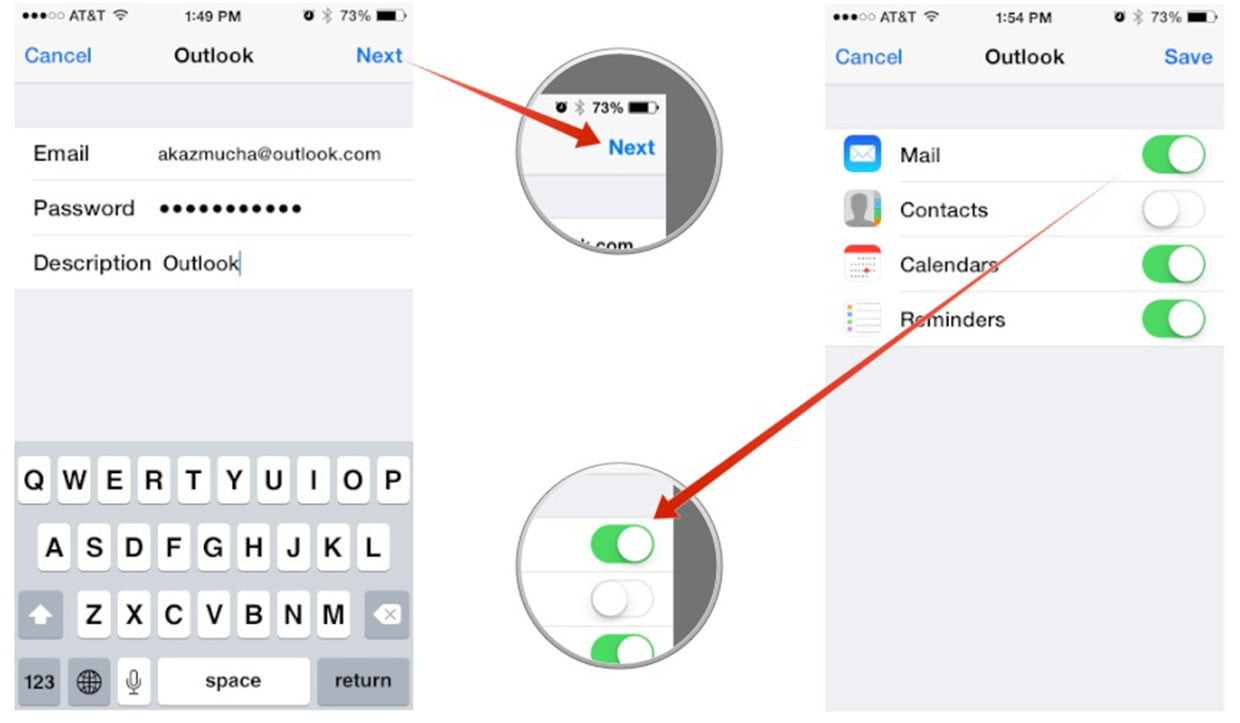 Set up your Outlook.com account on your iOS device