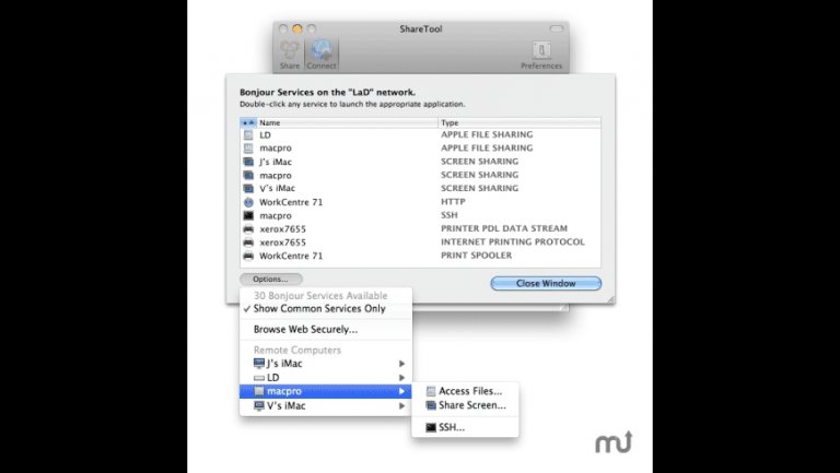 Slink, use your Mac's shared services remotely