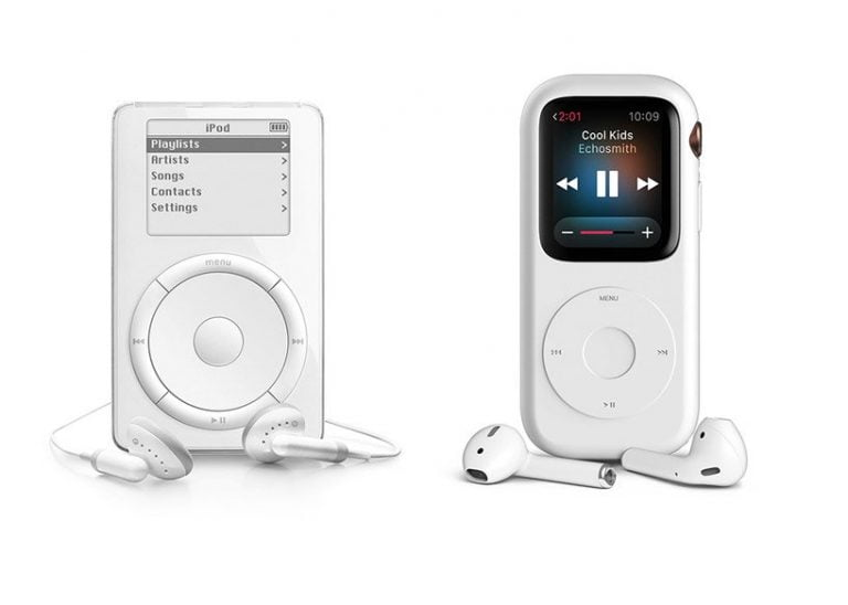 Special Apple product evolution: iPod