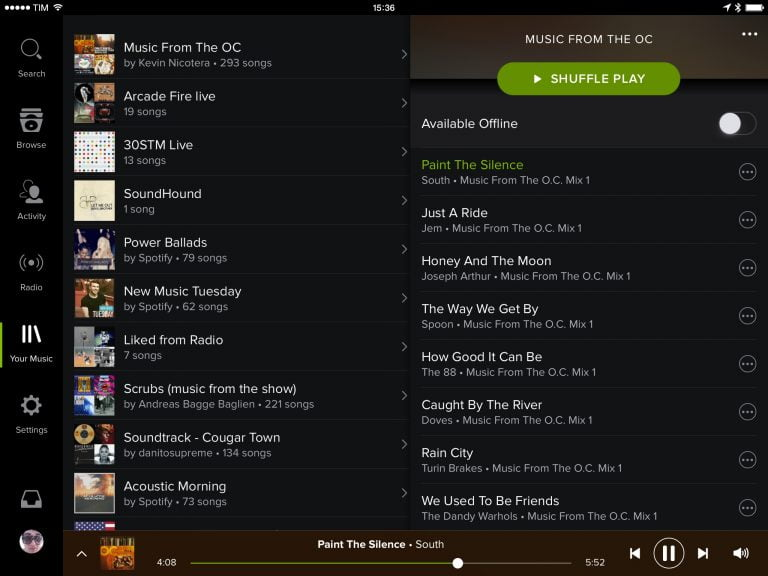Spotify is working on an iPad app