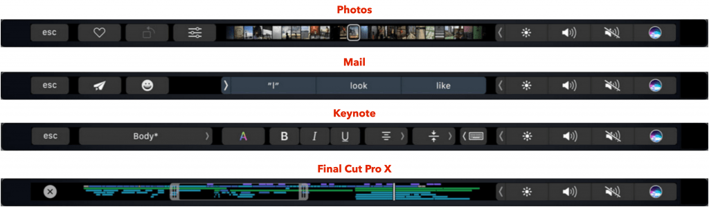Taking screenshots of the Touch Bar on the new MacBook Pro
