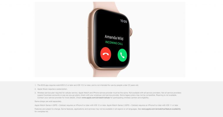 The Apple Watch Series 4 GPS + Cellular 44mm stainless steel is on Amazon for 559.90 euros