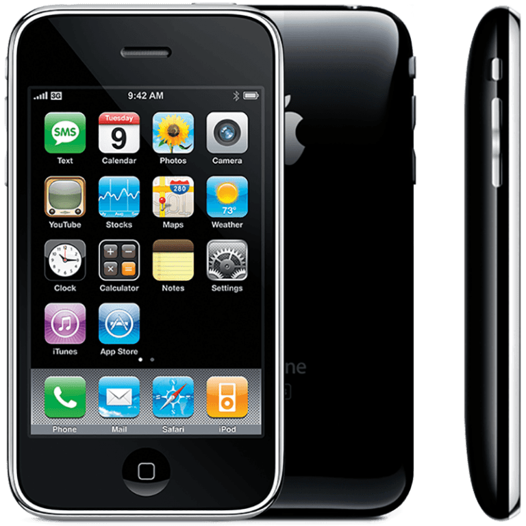 The dock of the first iPhone will not fit the 3G model