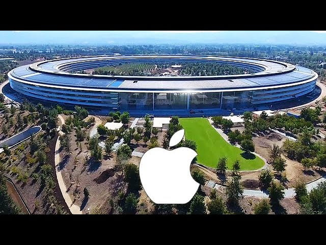 The latest drone view video of Apple Park shows us how the entire central building is already built