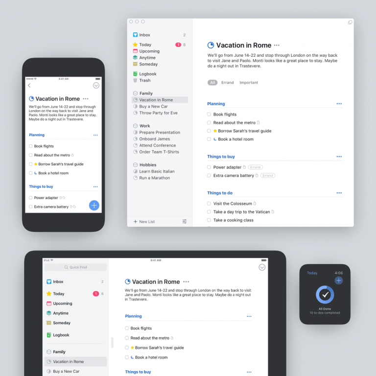 the list and task web manager comes to iOS as a native application