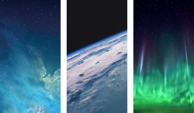 The new iOS 7 wallpapers