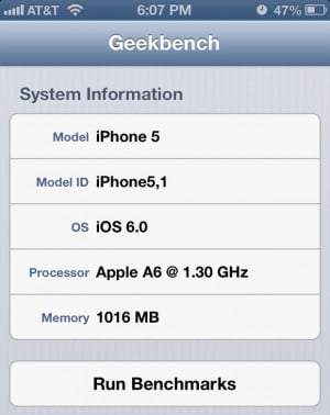 The new iPhone 5 A6 chip is faster than we thought