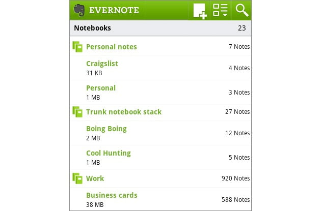 The new version of Evernote for iOS brings much more speed and new features