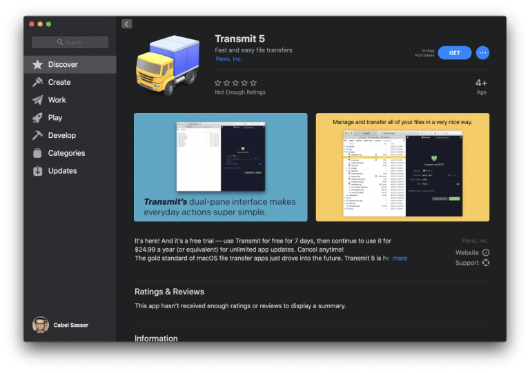 The popular Transmit FTP client is launched for iOS